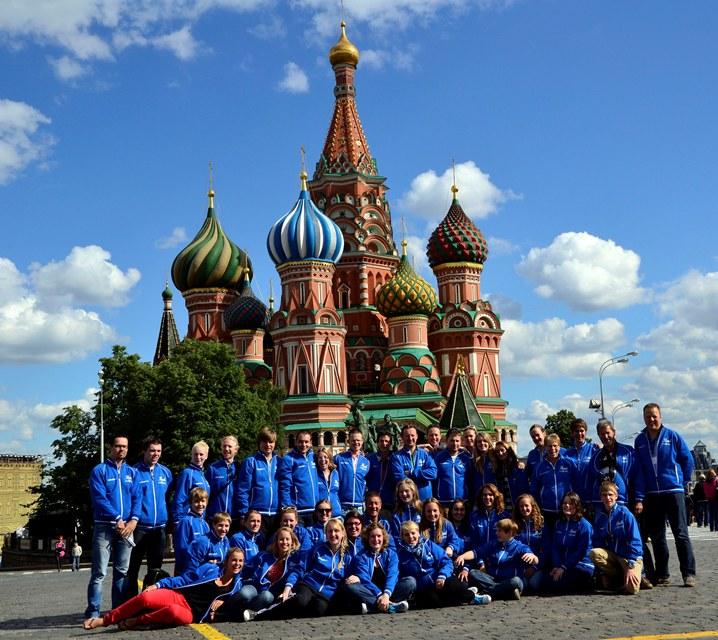 Foto: Showband Takostu op het Rode Plein in Moskou (Rusland) juni 2012